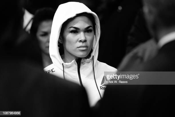 UFC 143 Closeup of Rachael Ostovich before Women Flyweight bout vs Paige VanZant at Barclays Center Brooklyn NY CREDIT Erick W Rasco