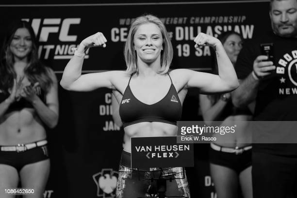 UFC 143 Paige VanZant during weigh in before Women Flyweight bout vs Rachael Ostovich at Barclays Center Brooklyn NY CREDIT Erick W Rasco