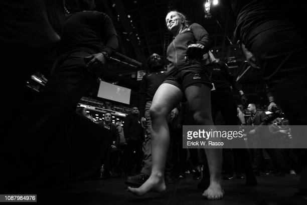UFC 143 Paige VanZant walking to ring before Women Flyweight bout vs Rachael Ostovich at Barclays Center Brooklyn NY CREDIT Erick W Rasco