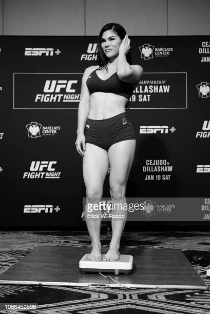 UFC 143 Rachael Ostovich during weigh in before Women Flyweight bout vs Paige VanZant at Barclays Center Brooklyn NY CREDIT Erick W Rasco