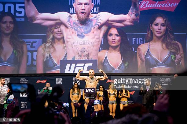 UFC 205 Conor McGregor victorious during weighin at Madison Square Garden New York NY CREDIT Taylor Ballantyne