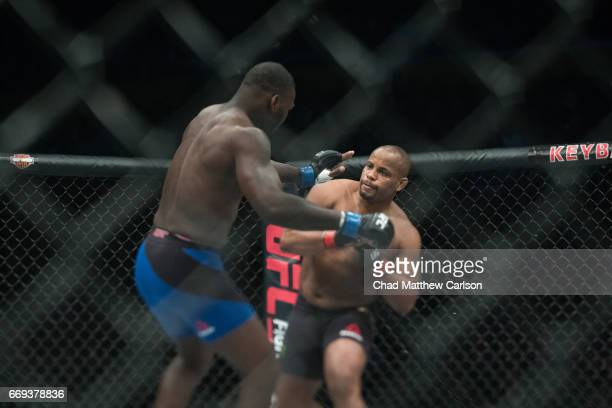 UFC 210 Daniel Cormier in action vs Anthony Johnson during Men's Light Heavyweight championship fight at KeyBank Center Cormier wins by submission at...