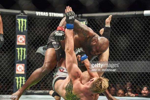 UFC 229 Derrick Lewis in action vs Alexander Volkov during Heavyweight fight at TMobile Arena Las Vegas NV CREDIT John W McDonough
