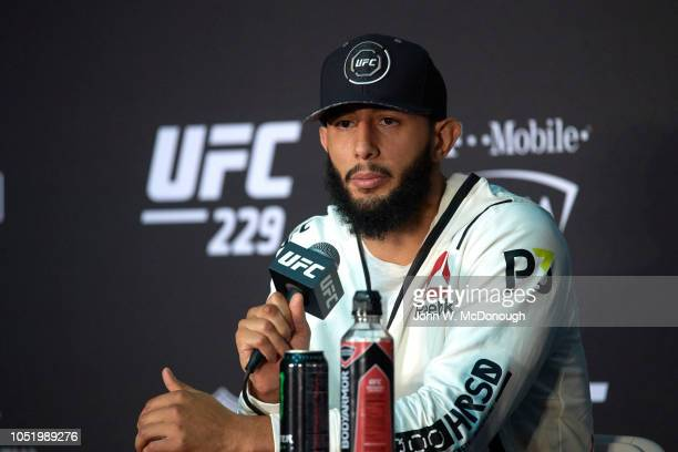 Dominick Reyes during press conference after Light Heavyweight Championship fight vs Ovince Saint Preux at T-Mobile Arena. Las Vegas, NV 10/6/2018...