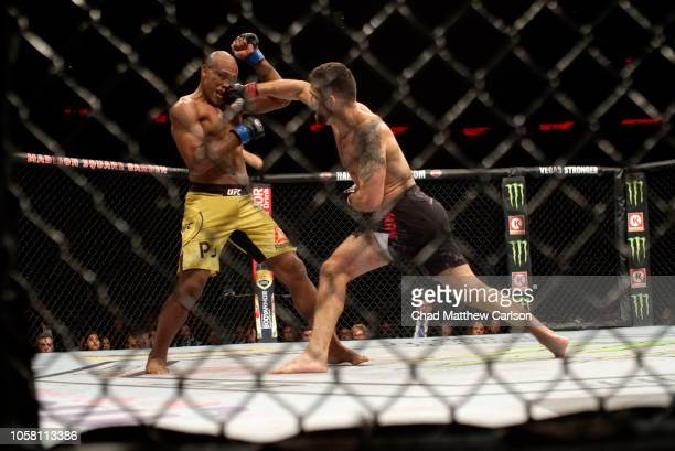 Chris Weidman in action vs Ronaldo Jacare Souza during Middleweight fight at Madison Square Garden. New York, NY 11/3/2018 CREDIT: Chad Mathew Carlson