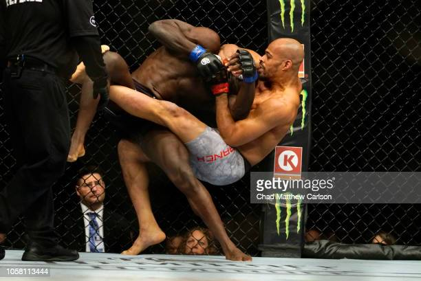 Jared Cannonier in action vs David Branch during Middleweight fight at Madison Square Garden. New York, NY 11/3/2018 CREDIT: Chad Mathew Carlson