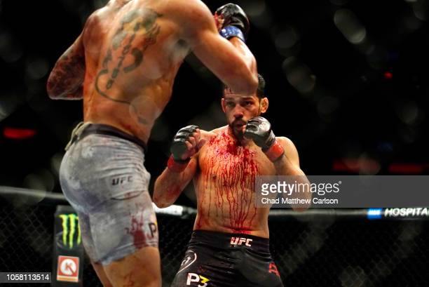 Julio Arce in action vs Sheymon Moraes during Featherweight fight at Madison Square Garden. New York, NY 11/3/2018 CREDIT: Chad Mathew Carlson