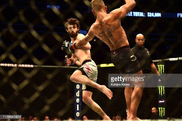 UFC 235 Zabit Magomedsharipov in action during Featherweight bout vs Jeremy Stephens at TMobile Arena Las Vegas NV CREDIT Kohjiro Kinno