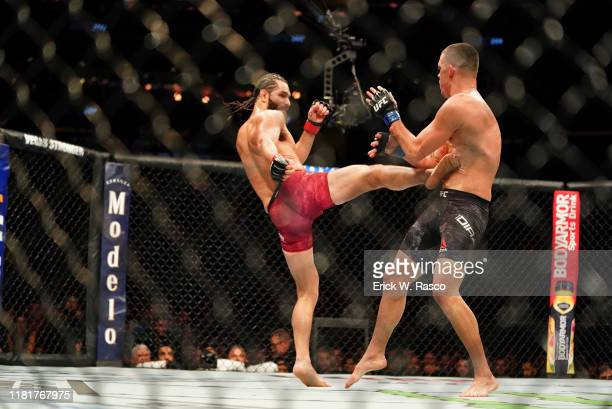 UFC 244 Jorge Masvidal in action vs Nate Diaz during welterweight bout vs at Madison Square Garden New York NY CREDIT Erick W Rasco