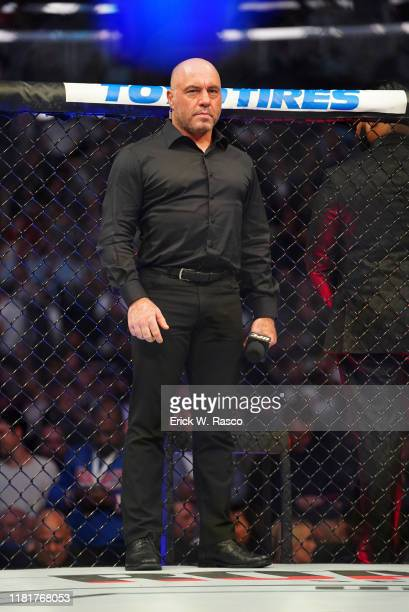 UFC 244 UFC Color commentator Joe Rogan in ring before welterweight bout between Jorge Masvidal vs Nate Diaz at Madison Square Garden New York NY...