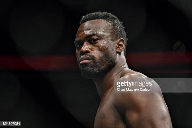 UFC Fight Night 116 Closeup of Uriah Hall after defeating Krzysztof Jotko during middleweight bout at PPG Paints Arena Pittsburgh PA CREDIT Chad...