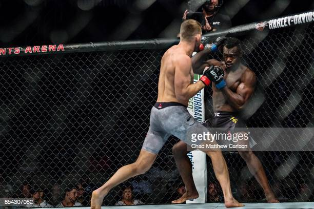 UFC Fight Night 116 Krzysztof Jotko in action vs Uriah Hall during middleweight bout at PPG Paints Arena Pittsburgh PA CREDIT Chad Matthew Carlson