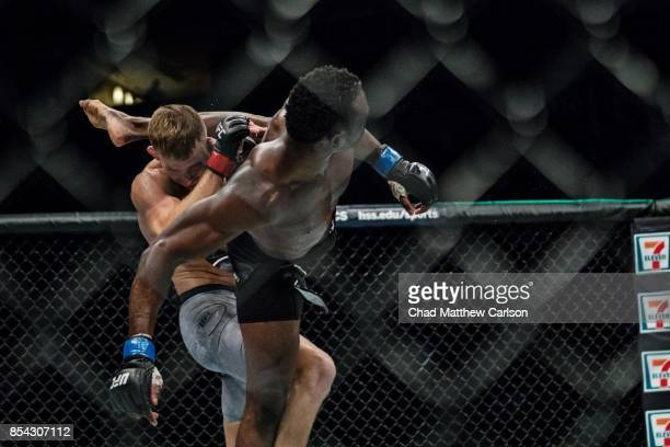 UFC Fight Night 116 Uriah Hall in action vs Krzysztof Jotko during middleweight bout at PPG Paints Arena Pittsburgh PA CREDIT Chad Matthew Carlson