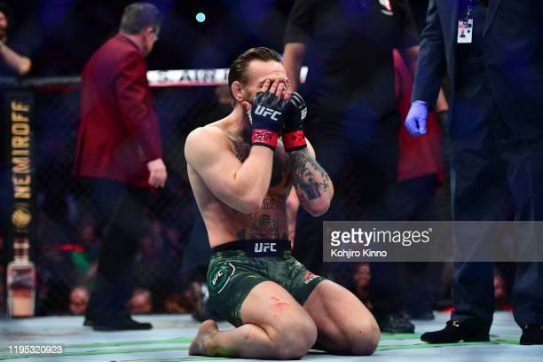 UFC Fight Night 246 Connor McGregor victorious after knocking out Donald Cerrone during Welterweight match at TMobile Arena Las Vegas NV CREDIT...