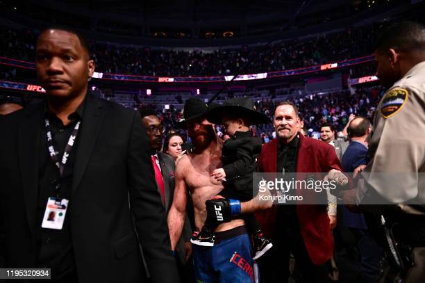 UFC Fight Night 246 Donald Cerrone carrying his son Dacson on his way to the ring before Welterweight match vs Connor McGregor at TMobile Arena Las...