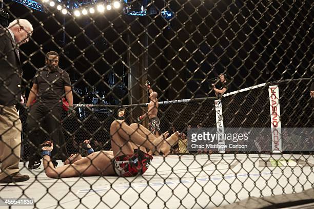 UFC Fight Night 50 Ronaldo Souza victorious in ring after winning Middleweight fight by guillotine submission vs Gegard Mousasi in Grand Theatre at...