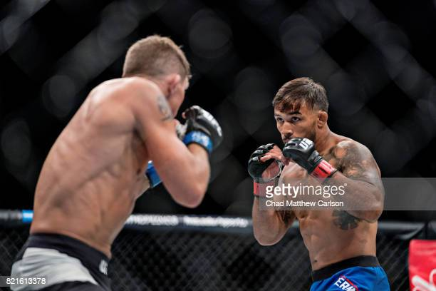 UFC on Fox 25 Darren Elkins in action vs Dennis Bermudez during featherweight bout at Nassau Coliseum Uniondale NY CREDIT Chad Matthew Carlson