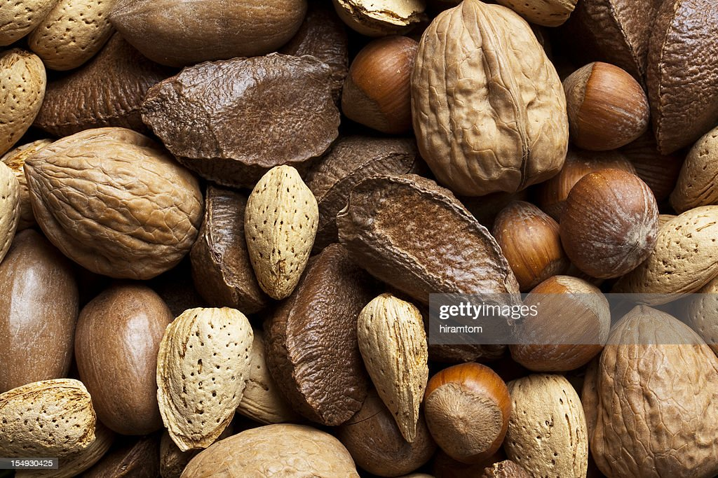 Mixed Nuts in Shells : Stock Photo