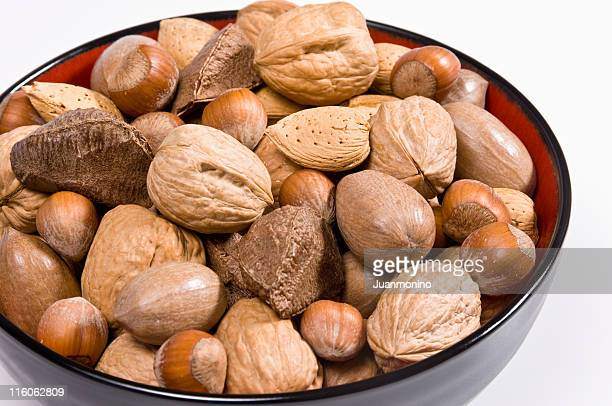 mixed nuts - brazil nut stock photos and pictures