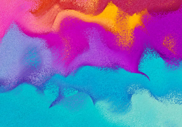 mixed paint multicolored background. abstract backdrop with curls - 彩色影像 個照片及圖片檔