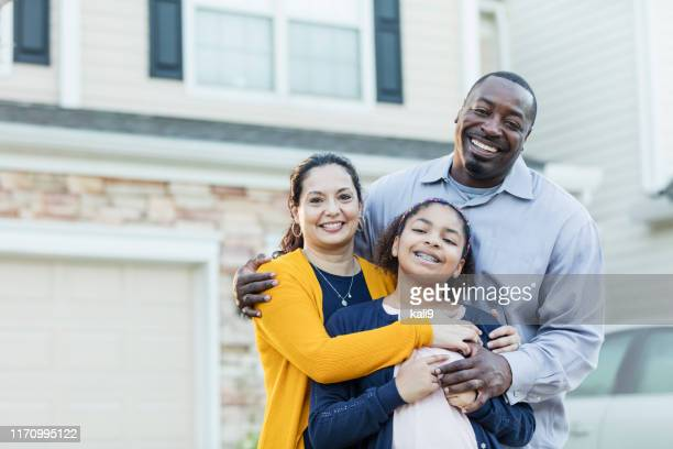 mixed race african-american and hispanic family - mixed race person stock pictures, royalty-free photos & images