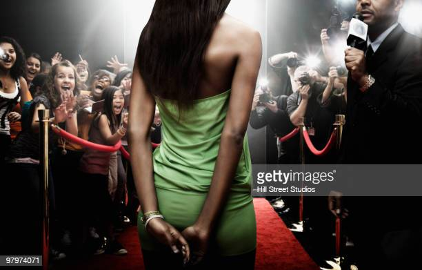 mixed race celebrity at red carpet event - red carpet event stock pictures, royalty-free photos & images