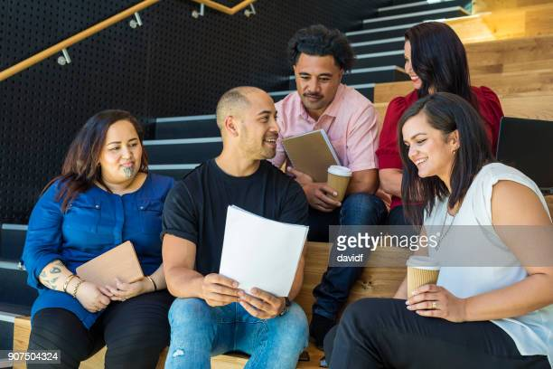 Mixed Race Group of Business People Having a Casual Meeting
