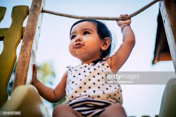 mixed race kid - cute little asian girls stock photos and pictures