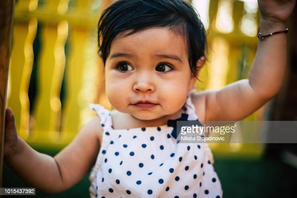 mixed race kid - baby girls stock pictures, royalty-free photos & images