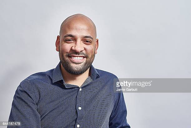 Mixed race male smiling looking relaxed
