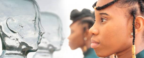 mixed race women looking at Avatars