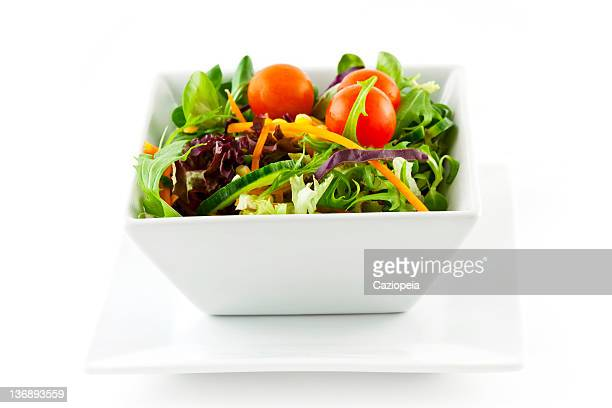 mixed salad - side salad stock pictures, royalty-free photos & images