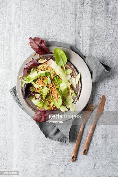 Mixed salad with Einkorn Wheat