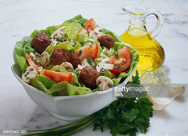 Mixed Salad with Meatballs