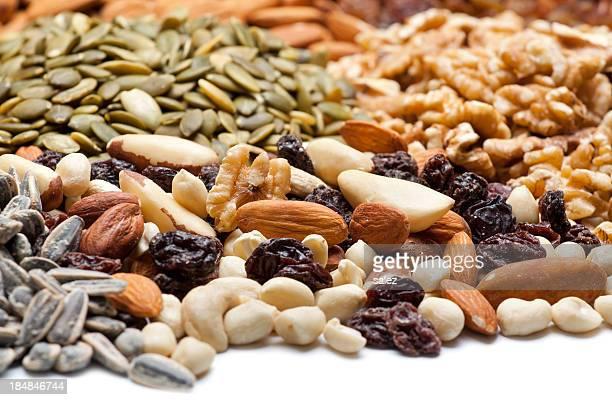 mixed snacks background