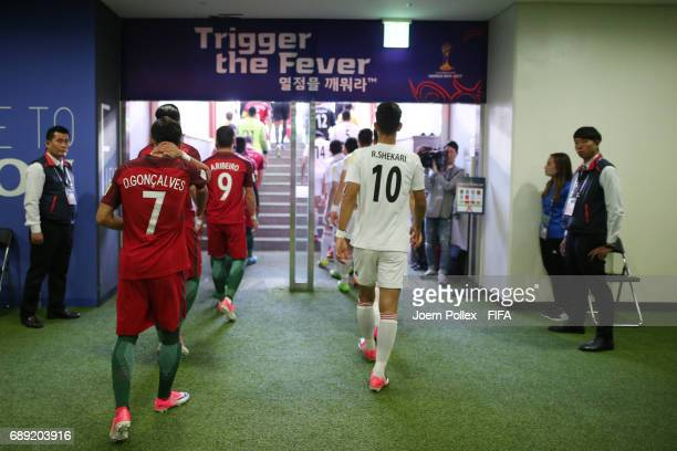 Mixed zone before the FIFA U20 World Cup Korea Republic 2017 group C match between Portugal and Iran at Incheon Munhak Stadium on May 27 2017 in...