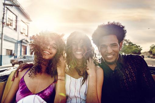 Mixed-race Cuban friends in Havanna - gettyimageskorea