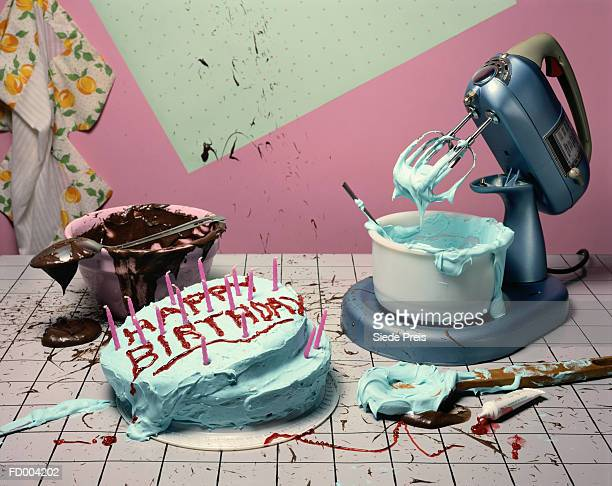 Mixer and Birthday Cake