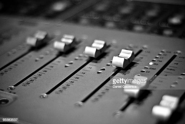 mixing desk - equaliser stock pictures, royalty-free photos & images