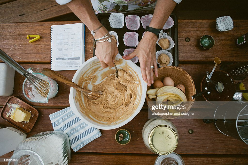 Mixing ingredients : Stock Photo