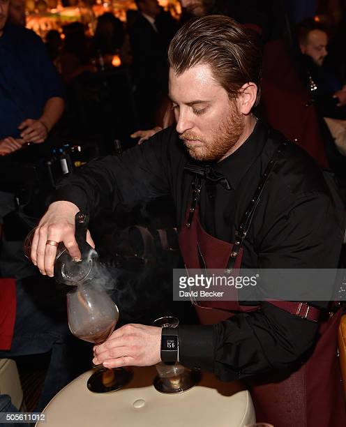 Mixologist Justin D'Angelo perpares a cocktail during the grand opening celebration at Clique Bar Lounge at the Cosmopolitian of Las Vegas on January...
