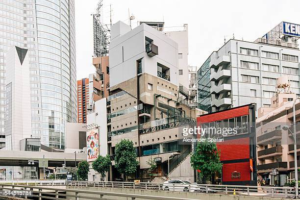 Mixture of architectural styles in Roppongi district, Tokyo, japan
