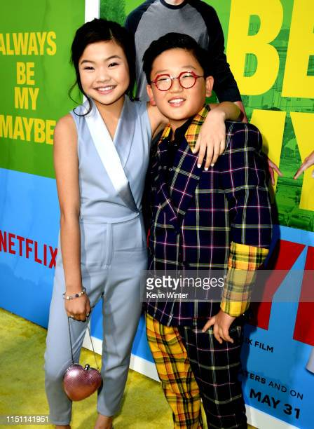 "Miya Cech and Emerson Min arrive at the premiere of Netflix's ""Always Be My Maybe"" at the Regency Village Theatre on May 22, 2019 in Westwood,..."