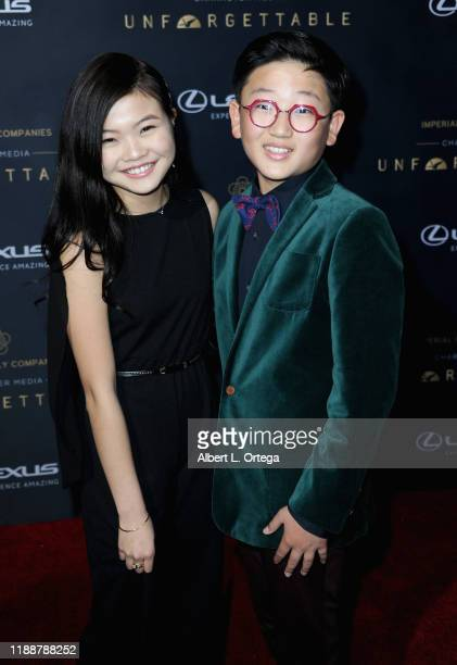 Miya Cech and Emerson Min arrive for the 18th Annual Unforgettable Gala held at The Beverly Hilton Hotel on December 14, 2019 in Beverly Hills,...
