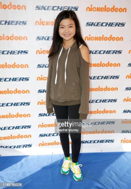 Miya Cech attends the 11th Annual Skechers Pier To Pier Friendship Walk on October 27, 2019 in Manhattan Beach, California.