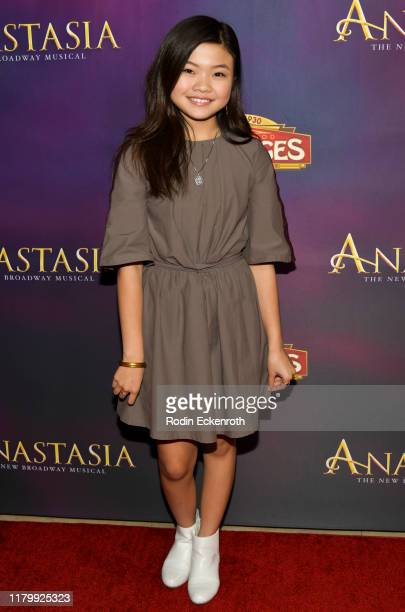 "Miya Cech attends the Open Night Performance of ""Anastasia"" Hollywood Pantages Theatre at the Pantages Theatre on October 08, 2019 in Hollywood,..."