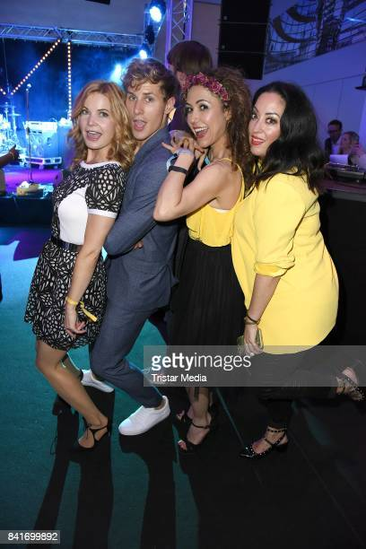 Miyabi Kawai Anastasia Zampounidis Lukas Sauer and Eva Imhof during the Alcatel Entertainment Night feat Music Meets Media at Sheraton Berlin Grand...