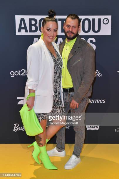 Miyabi Kawai and Manuel Cortez arrive for the annual ABOUT YOU Awards at Bavaria Studios on April 18 2019 in Munich Germany