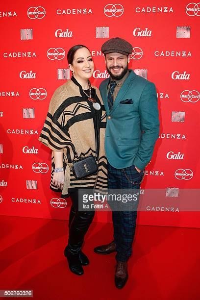 Miyabi Kawai and Manuel Cortez attend the 'Gala' fashion brunch during the Mercedes-Benz Fashion Week Berlin Autumn/Winter 2016 at Ellington Hotel on...