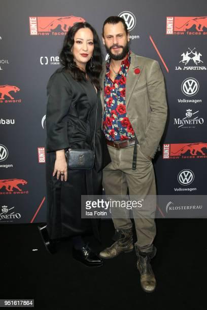 Miyabi Kawai and Manuel Cortez attend the New Faces Award Film at Spindler Klatt on April 26 2018 in Berlin Germany